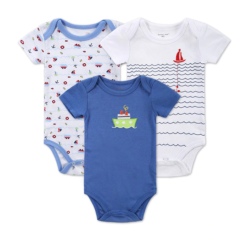 3-PCS-LOT-Baby-Boy-Clothes-Newborn-Baby-Bodysuit-Short-Sleeved-Cotton-Baby-Wear-Toddler-Underwear